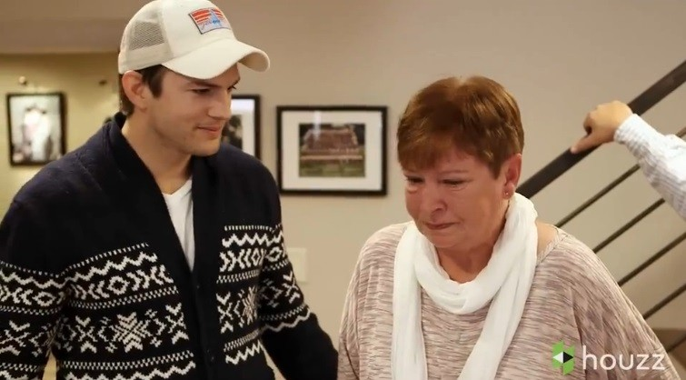 Ashton kutcher 39 s mother cries actor takes the blame photos - A dream basement ashton kutchers surprise for his mom ...