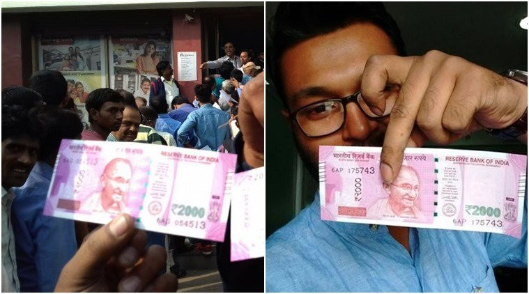 RS 2000,RS 500,New RS 2000,Selfie with RS 2000,Selfie with RS 500,Rs 500 and Rs 2000,Selfie,Selfie with new currency