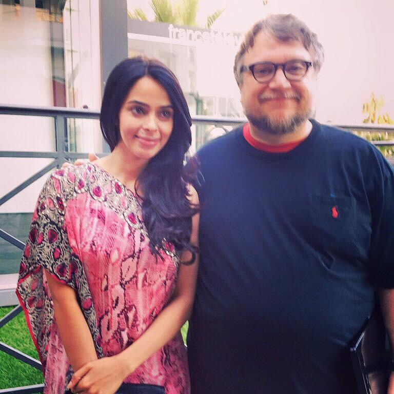 Mallika Sherawat,Guillermo Del Toro,mallika sherawat at cannes,Cannes 2015,Cannes Film Festival 2015