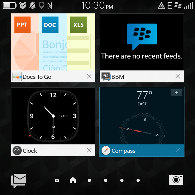 Blackberry Classic Multi Window Interface