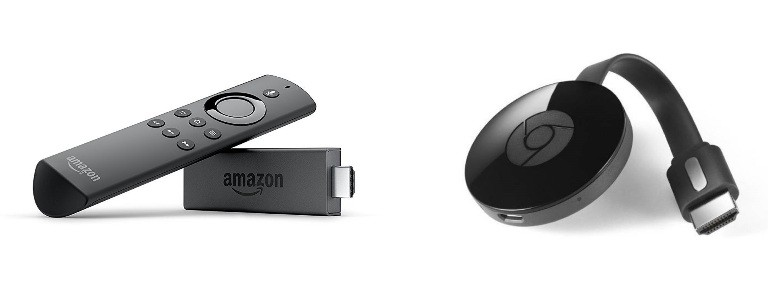 Amazon Fire TV Stick vs Google Chromecast 2