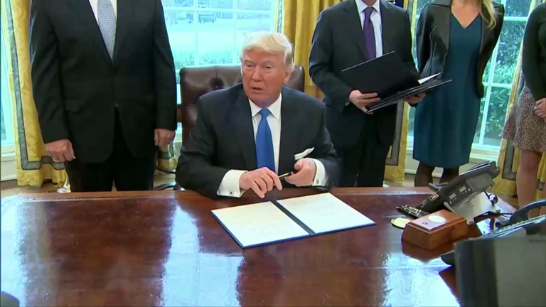 President Trump could sign executive orders to ban refugees build Mexico wall