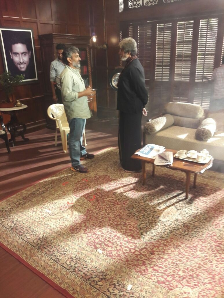 Baahubali,SS Rajamouli,SS Rajamouli meets Amitabh Bachchan,Amitabh Bachchan,Sarkar 3,Sarkar 3 on the sets