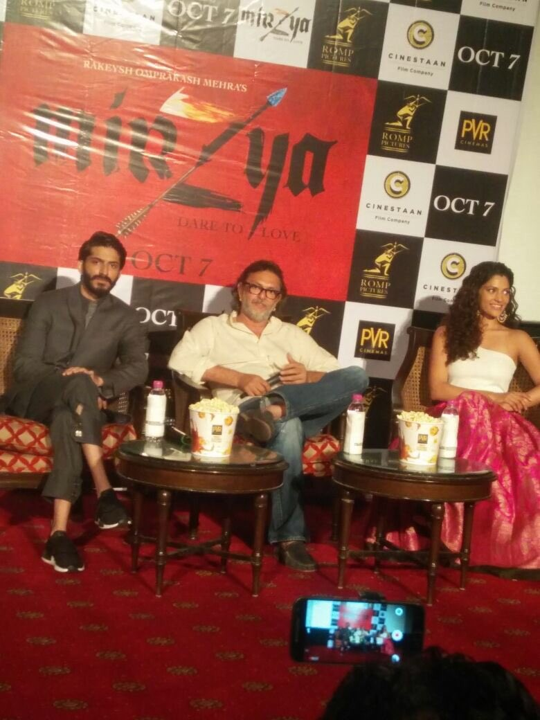 Mirzya Second trailer launch,Mirzya Second trailer,Mirzya trailer,Harshvardhan Kapoor,Saiyami Kher,Rakeysh Mehra,Mirzya Second trailer launch pics,Mirzya Second trailer launch images,Mirzya Second trailer launch photos,Mirzya Second trailer launch stills