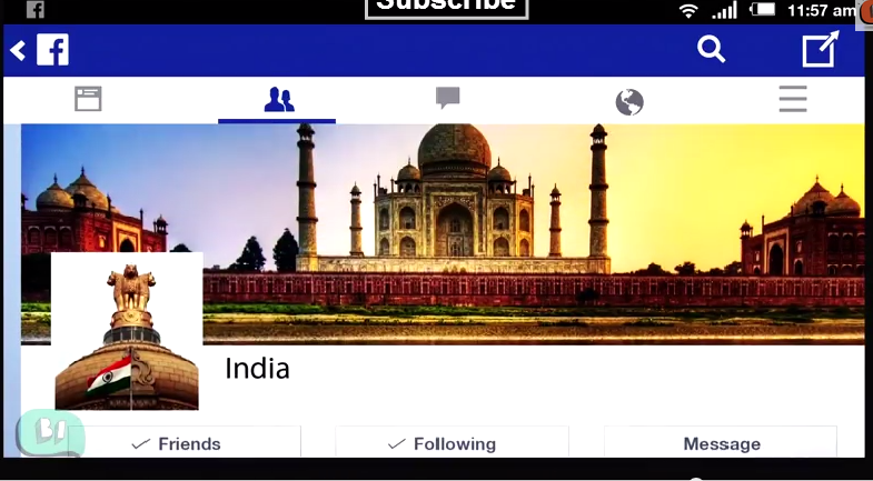 India's Facebook page