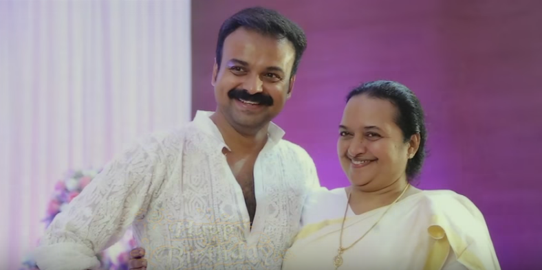 Kunchacko Boban with his mother Molly