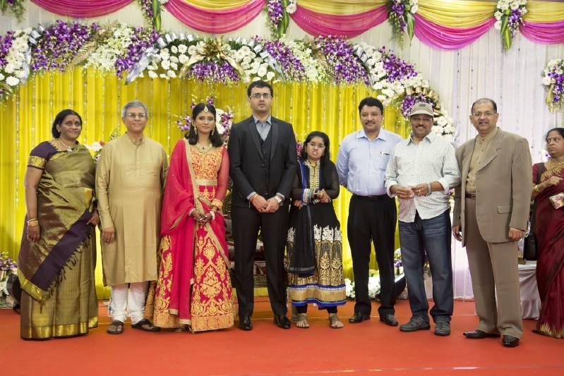 Goundamani,Bhagyaraj,Producer Srikanth son Wedding Reception,Producer Srikanth son marriage Reception,Akshay and Sowmiya Wedding Reception