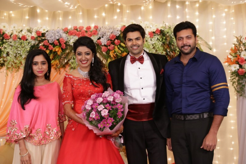 Tamil Actor Ganesh Venkatraman And TV Actress Anchor Nisha Krishnan Wedding Reception Held At Chennai