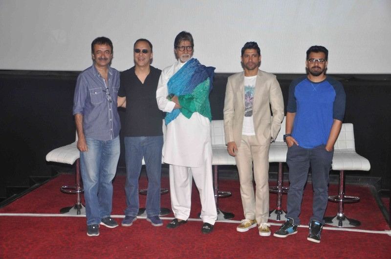 Amitabh Bachchan and Farhan Akhtar launch the first look of Wazir,Amitabh Bachchan launch the first look of Wazir,Farhan Akhtar launch the first look of Wazir,Amitabh Bachchan and Farhan Akhtar,Amitabh Bachchan,Farhan Akhtar,Wazir,Wazir first look