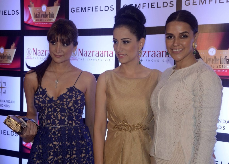 11th Retail Jeweller India Awards,Retail Jeweller India Awards,Jeweller India Awards,Neha Dhupia,Michelle Poonawalla,Rouble Nagi,awards,Jewellery