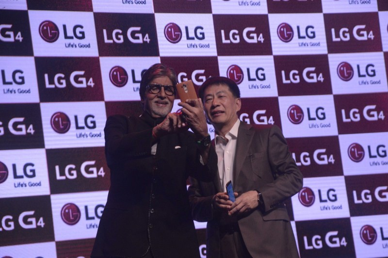 Amitabh Bachchan,LG G4 Smartphone,Amitabh Bachchan Launch LG G4 Smartphone,LG G4,LG Smartphone,G4 Smartphone,actor Amitabh Bachchan,Amitabh Bachchan pics,Amitabh Bachchan images,Amitabh Bachchan stills,Amitabh Bachchan photos