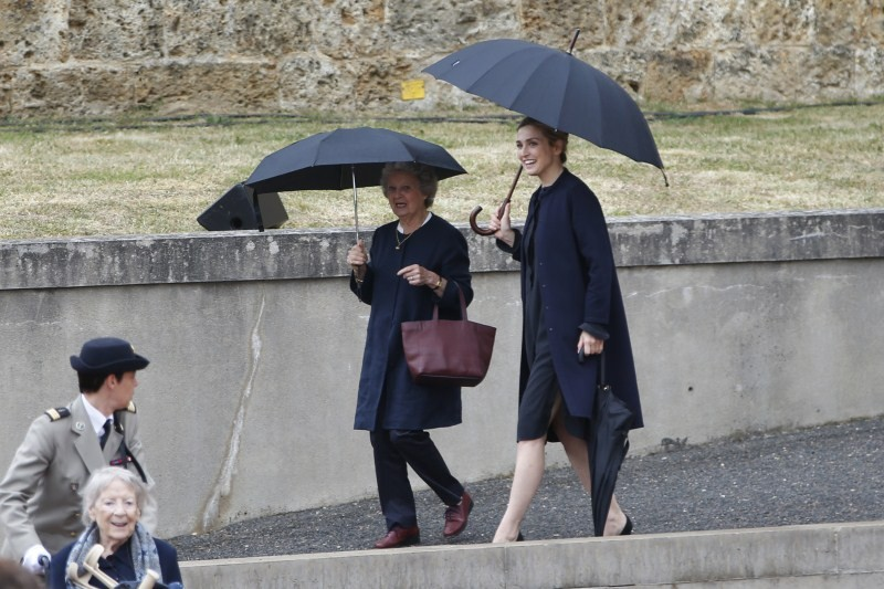 Julie Gayet,75th anniversary of General Charles de Gaulle's,actress Julie Gayet,French producer Julie Gayet,french president's alleged lover,french president's lover Julie Gayet