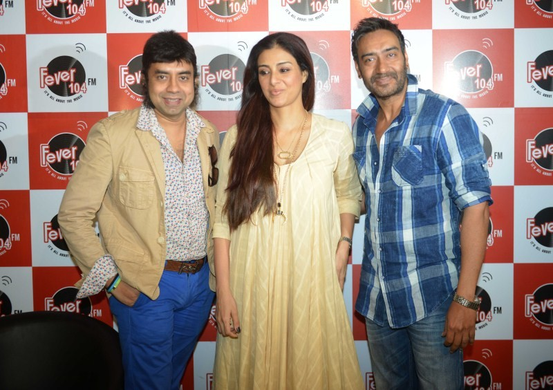 Drishyam movie promotion,Ajay Devgn,Tabu,Ajay Devgn and Tabu,Ajay Devgn and Tabu promote Drishyam on Radio Fever 104 FM,Drishyam movie promotion pics,Drishyam movie promotion images,Drishyam movie promotion photos,Drishyam movie promotion stills,Drishyam