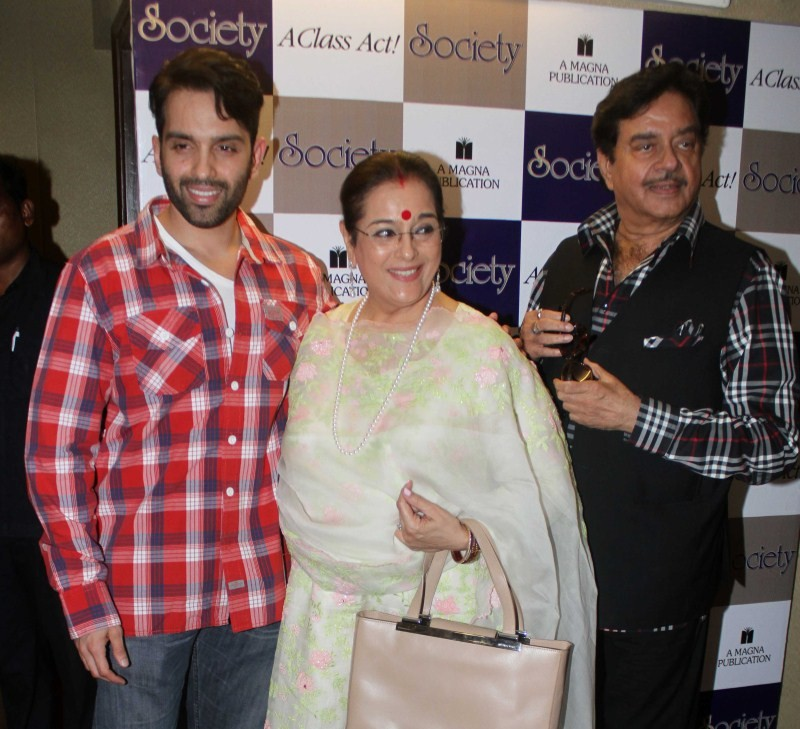 Unveiling of Society Magazine July issue,Unveiling of Society Magazine,Shatrughan Sinha,Poonam Sinha,Luv Sinha,Society Magazine