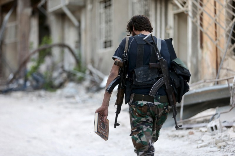 Koran on the Battlefield,Syria,Islam's holy book,Fighters in Syria,Quran and violence,ISLAM And The VEDAS,Syrian Army