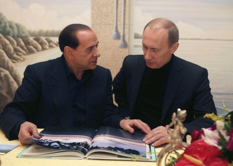 Best Friends Putin and Berlusconi,Putin and Berlusconi,Italian Prime Minister Silvio Berlusconi,Russian President Vladimir Putin,Vladimir Putin,Silvio Berlusconi,Best Friends