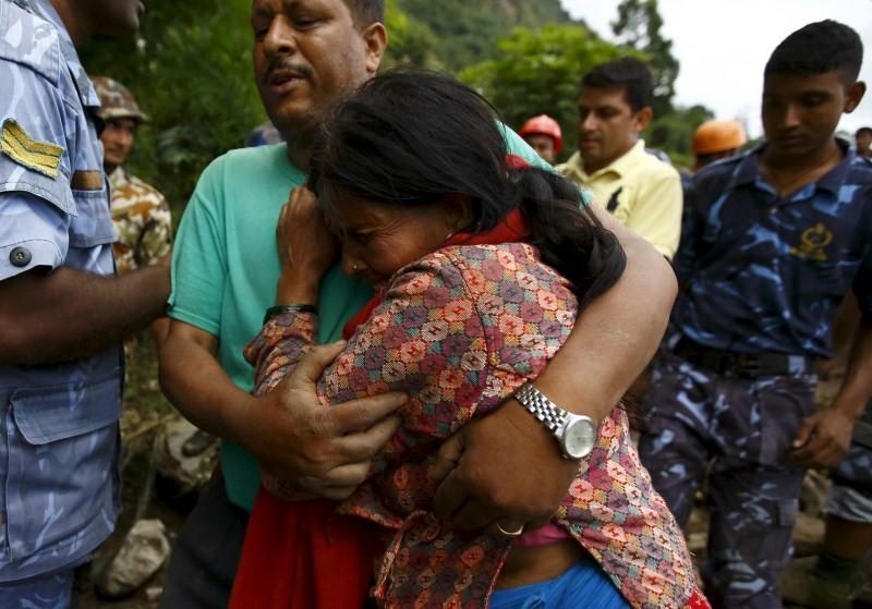 Nepal Landslides triggered by Rain,Landslides in Nepal,Landslides,Kaski district,Nepal,Landslides bury Nepal villages,Landslides in Western Nepal,heavy rain,heavy rain in Nepal