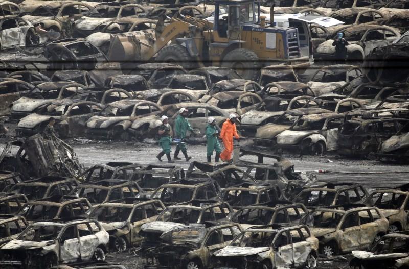 Tianjin Blasts,New Cars Ruined,Ten thousands New Cars Ruined,Damaged cars,Cars Ruined in Tianjin Blasts