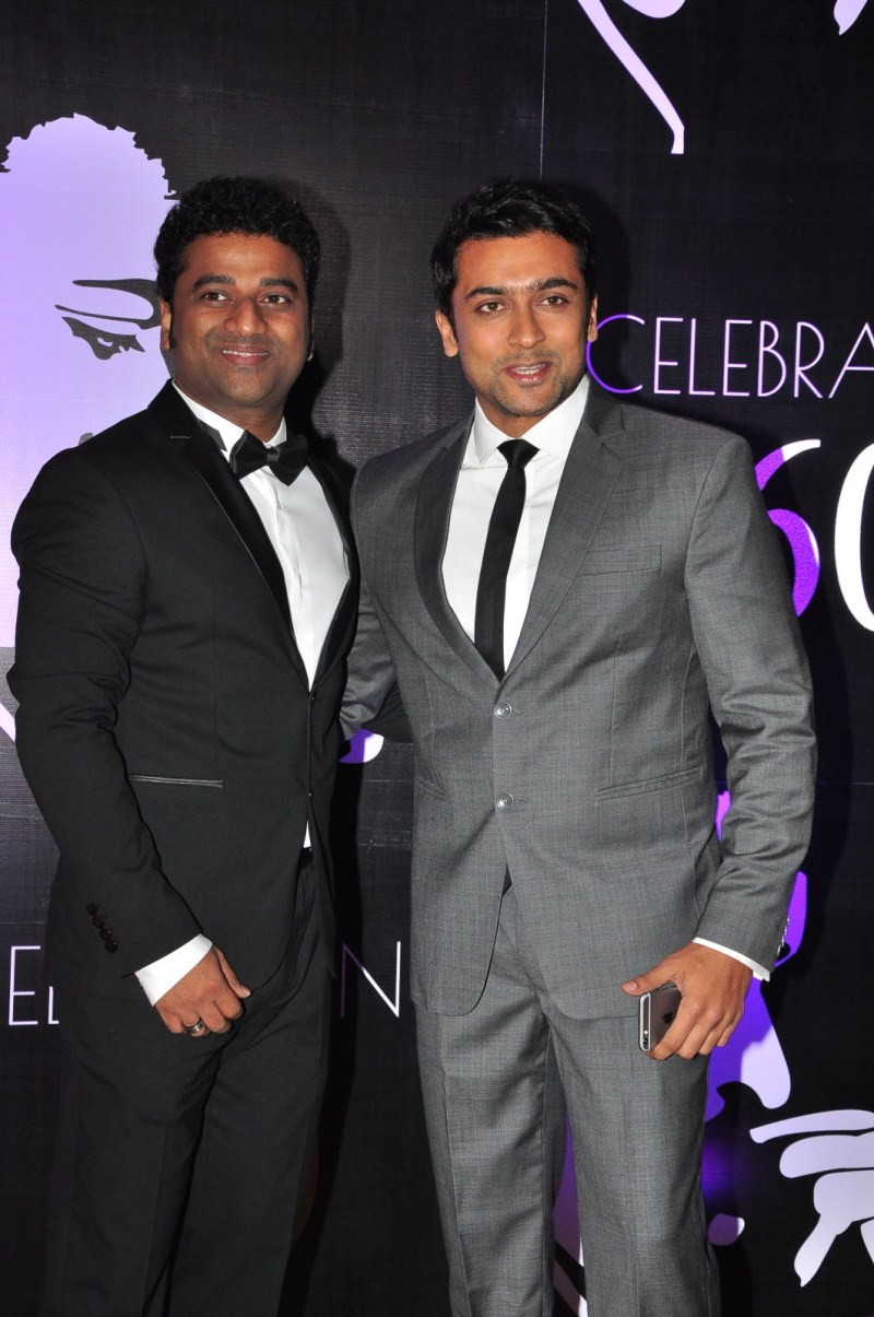 Suriya,Suriya at Chiranjeevi's 60th Birthday Celebration,Chiranjeevi's 60th Birthday Celebration,Chiranjeevi,Devi Sri Prasad