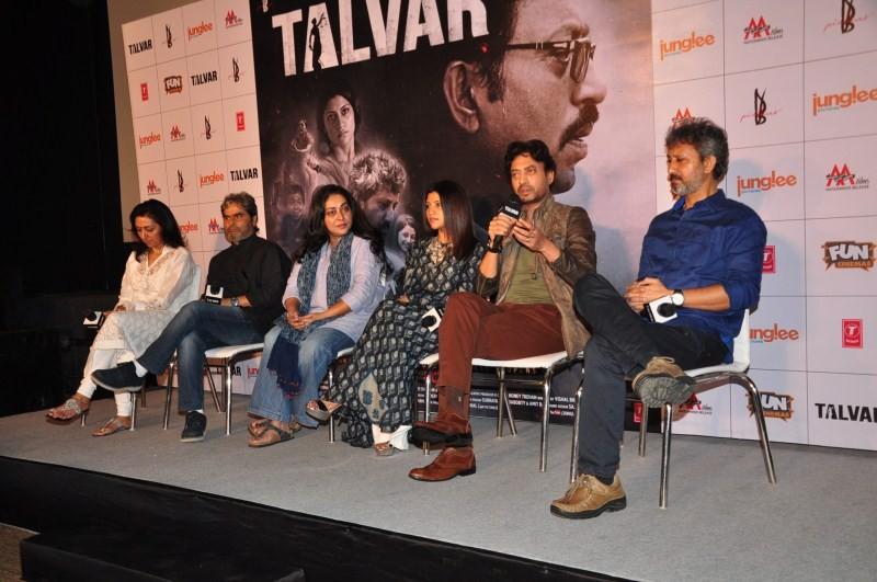 Irrfan Khan,Konkona Sen Sharma,Irrfan Khan at Talvar Trailer Launch,Konkona Sen Sharma at Talvar Trailer Launch,Talvar Trailer Launch,Talvar Trailer Launch pics,Talvar Trailer Launch images,Talvar Trailer Launch photos,Talvar Trailer Launch stills,Talvar