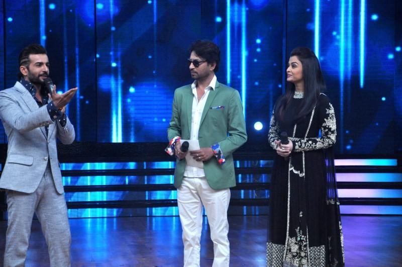 Aishwarya Rai,Irrfan Khan,Jazbaa,Dance India Dance,jazbaa movie promotion,jazbaa movie promotion on dance india dance,Aishwarya rai Bachchan