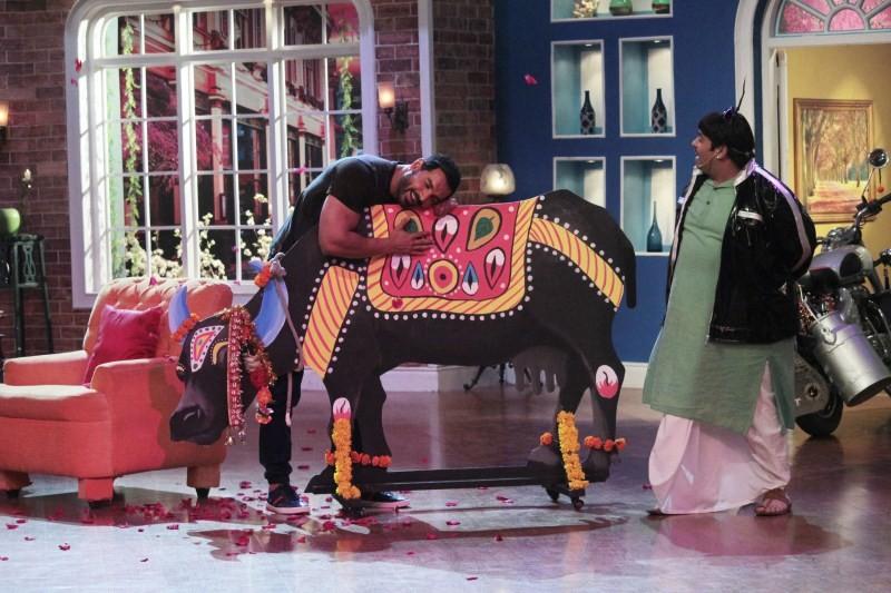 Shruti Haasan,Anil Kapoor,John Abraham,Comedy Nights with Kapil,Kapil Sharma,Comedy Nights with Kapil on the sets