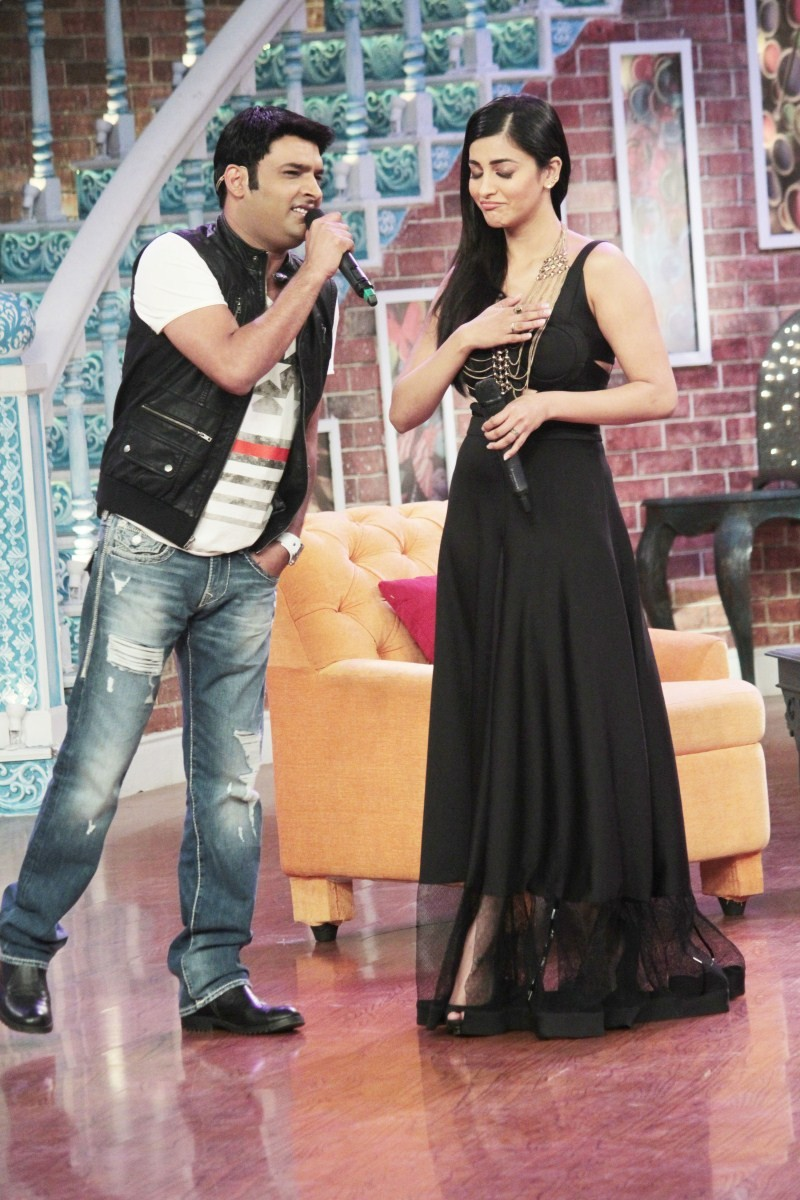 Shruti Haasan,Anil Kapoor,John Abraham,Comedy Nights with Kapil,Kapil Sharma,Comedy Nights with Kapil on the sets