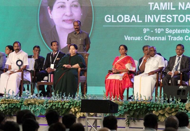 Jayalalithaa,Jayalalithaa inaugurates Tamil Nadu Global Investors Meet,Tamil Nadu Global Investors Meet,Global Investors Meet,TNGIM 2015,GIM 2015
