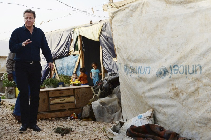 David Cameron,David Cameron meets refugees in Lebanon camp,Prime Minister David Cameron,Bekaa Valley in Lebanon,Bekaa Valley,Lebanon,refugees,Syrian refugee