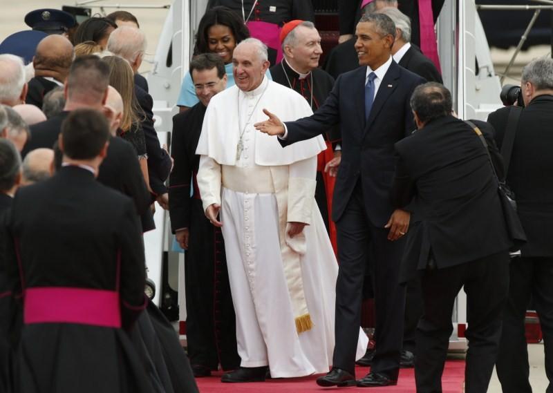 President Obama,Obama,Barack Obama,Pope Francis in US,Pope Francis,Pope Francis arrives United States