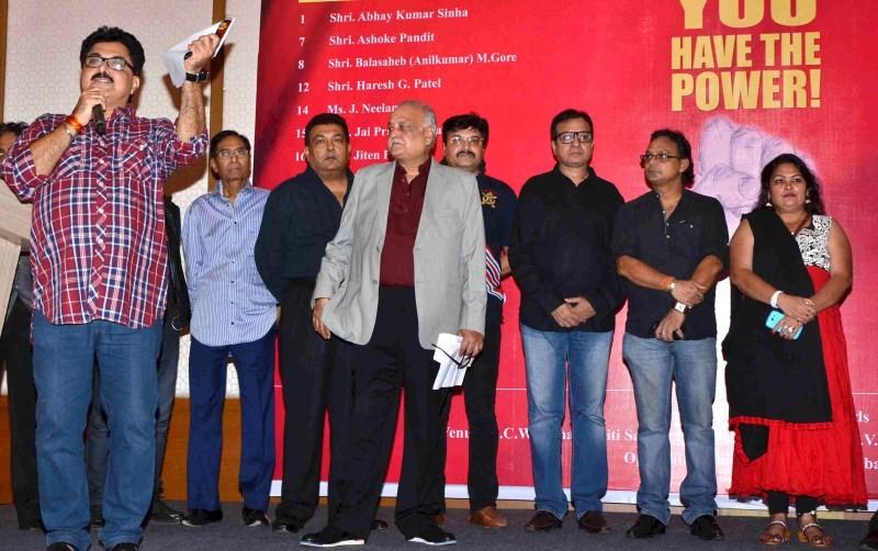 TP Aggarwal,Abhay Sinha,IMPPA election at Andheri,IMPPA election,Jiten Purohit,Jay Prakash,Nitin Mavani,Raju Mavani,Ravi Kishan,Sunil Pal,Vijay Bansal,Durga Prasad,Sushma Shiromani,Neelam Singh,Monalisa