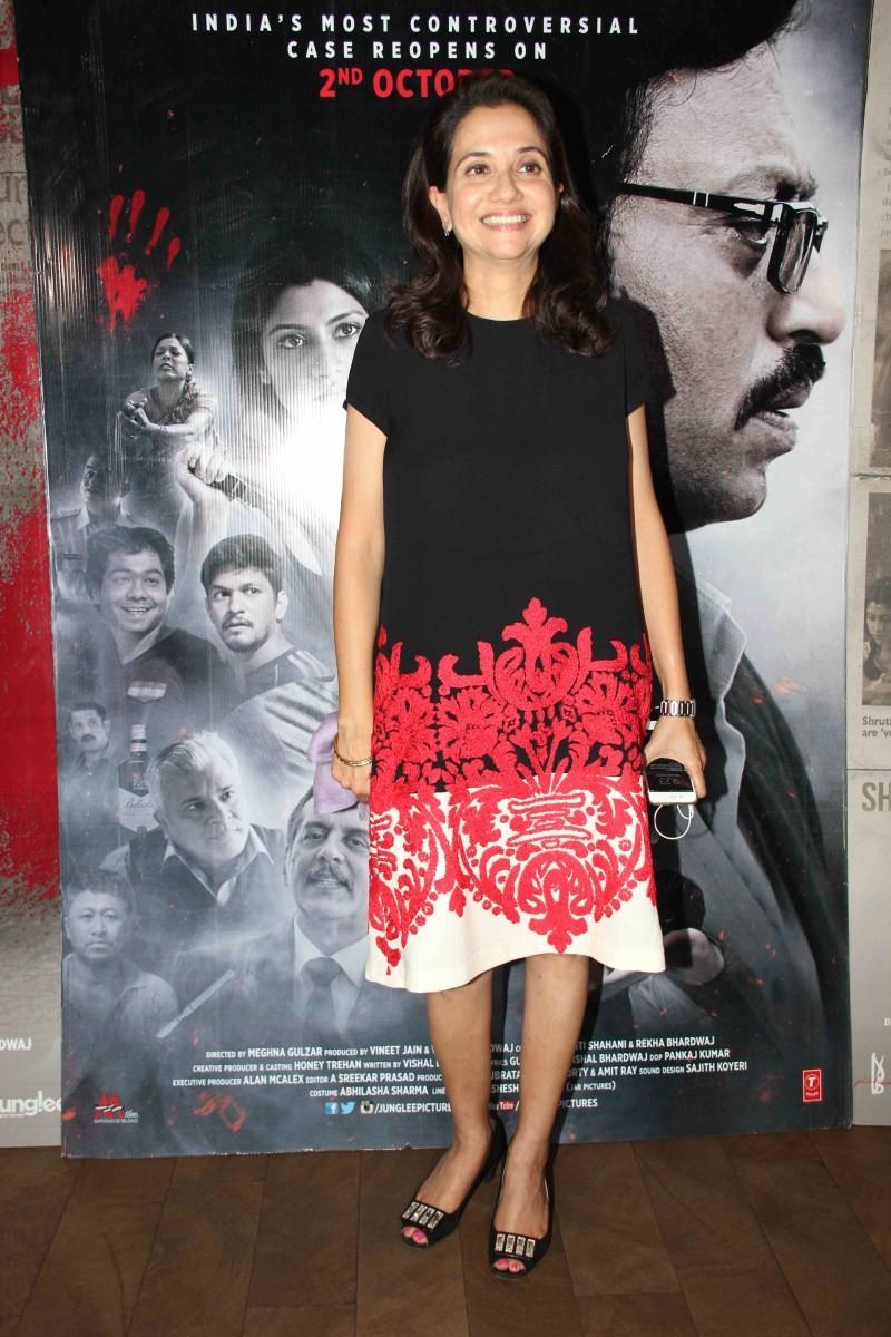 Talvar special screening,Talvar,Deepika Padukone,actress Deepika Padukone,Deepika Padukone at Talvar special screening,bollywood movie Talvar