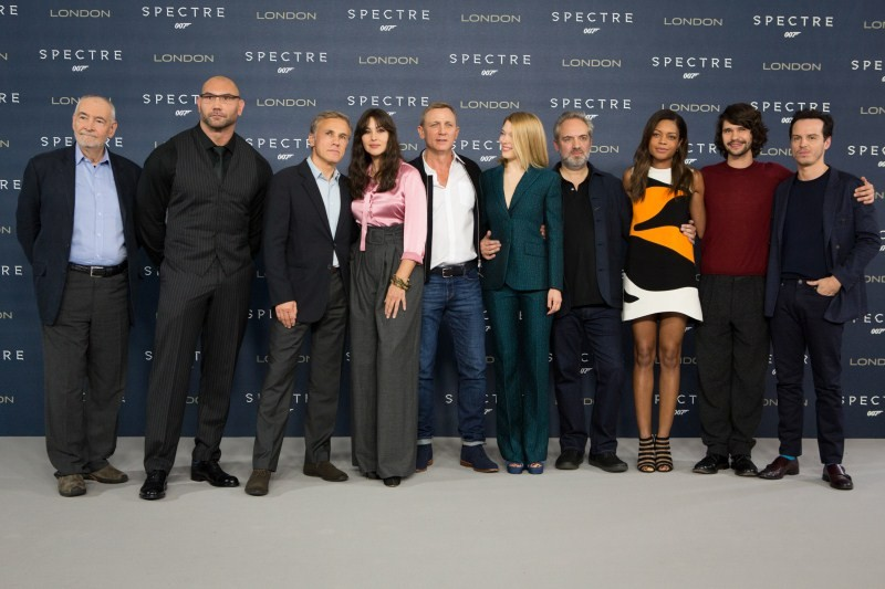 Daniel Craig,Spectre,Spectre cast,Spectre Promo,Monica Bellucci,Lea Seydoux,Naomie Harris,Christoph Waltz,Ben Whishaw,Dave Bautista,Andrew Scott