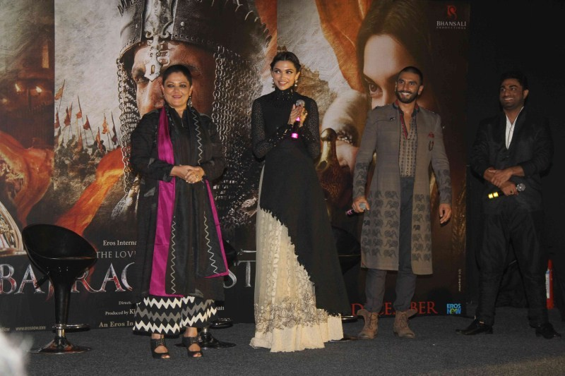 Bajirao Mastani,Bajirao Mastani trailer,Bajirao Mastani trailer launch,Ranveer Singh,Deepika Padukone,Ranveer Singh and Deepika Padukone,Bajirao Mastani Trailer Launch pics,Bajirao Mastani Trailer Launch images,Bajirao Mastani Trailer Launch photos,Bajira