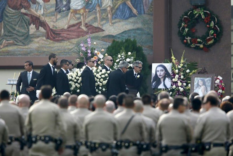 First funeral of San Bernardino victim,funeral of San Bernardino victim,San Bernardino massacre victim,San Bernardino victim,First funeral of San Bernardino massacre victim