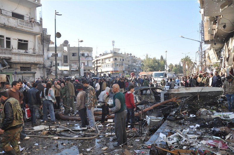 Syria bombings,twin bombings,Syria twin bombings,Homs city,32 people killed,32 people killed in Syria bombings,Al-Zahra