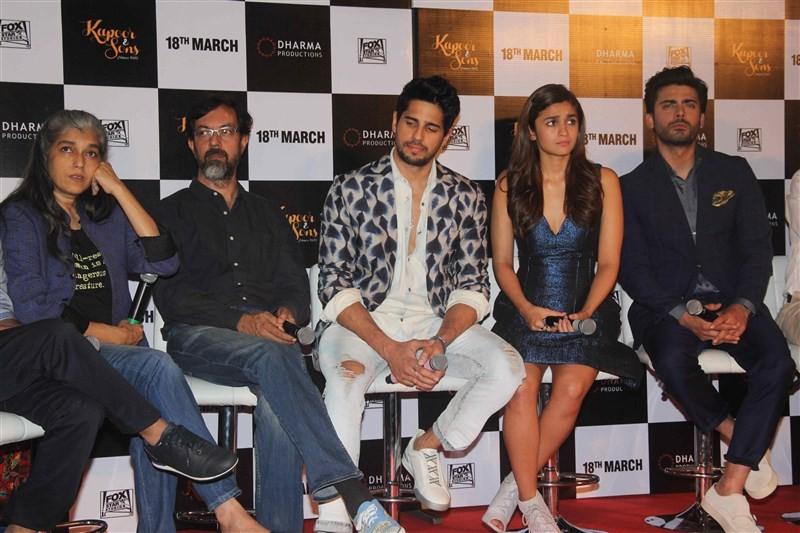 Kapoor & Sons,Kapoor & Sons Trailer launch,Kapoor & Sons Trailer,Rajat Kapoor,Ratna Pathak Shah,Shakun Batra,Sidharth Malhotra,Alia Bhatt,Fawad Khan,Karan Johar,Kapoor & Sons Trailer launch pics,Kapoor & Sons Trailer launch images,Kapo