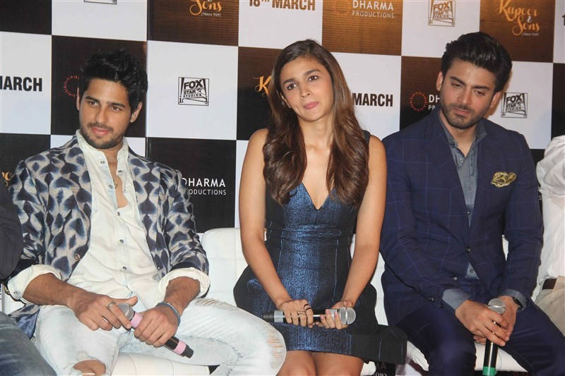 Kapoor & Sons,Kapoor & Sons Trailer launch,Kapoor & Sons Trailer,Rajat Kapoor,Ratna Pathak Shah,Shakun Batra,Sidharth Malhotra,Alia Bhatt,Fawad Khan,Karan Johar,Kapoor & Sons Trailer launch pics,Kapoor & Sons Trailer launch images,Kapo
