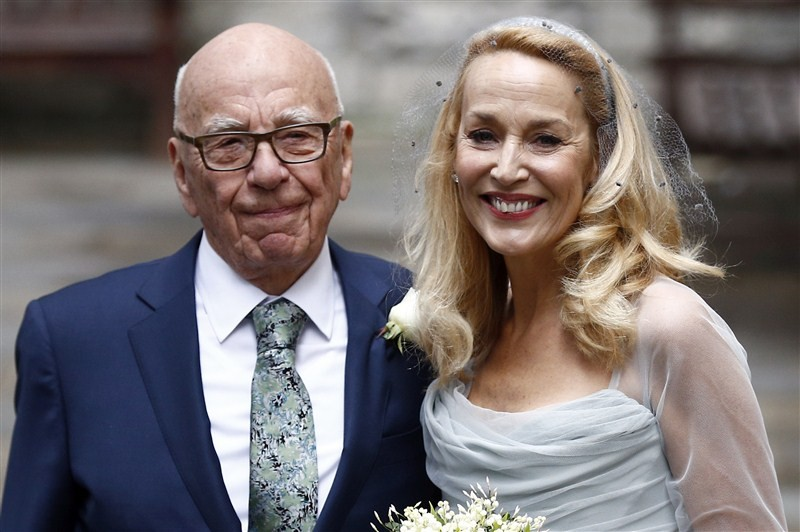 Rupert Murdoch,Jerry Hall,Rupert Murdoch and Jerry Hall,Rupert Murdoch and Jerry Hall wedding,Rupert Murdoch and Jerry Hallmarriage,Rupert Murdoch wedding,Rupert Murdoch marriage,Jerry Hall wedding,Jerry Hall marriage