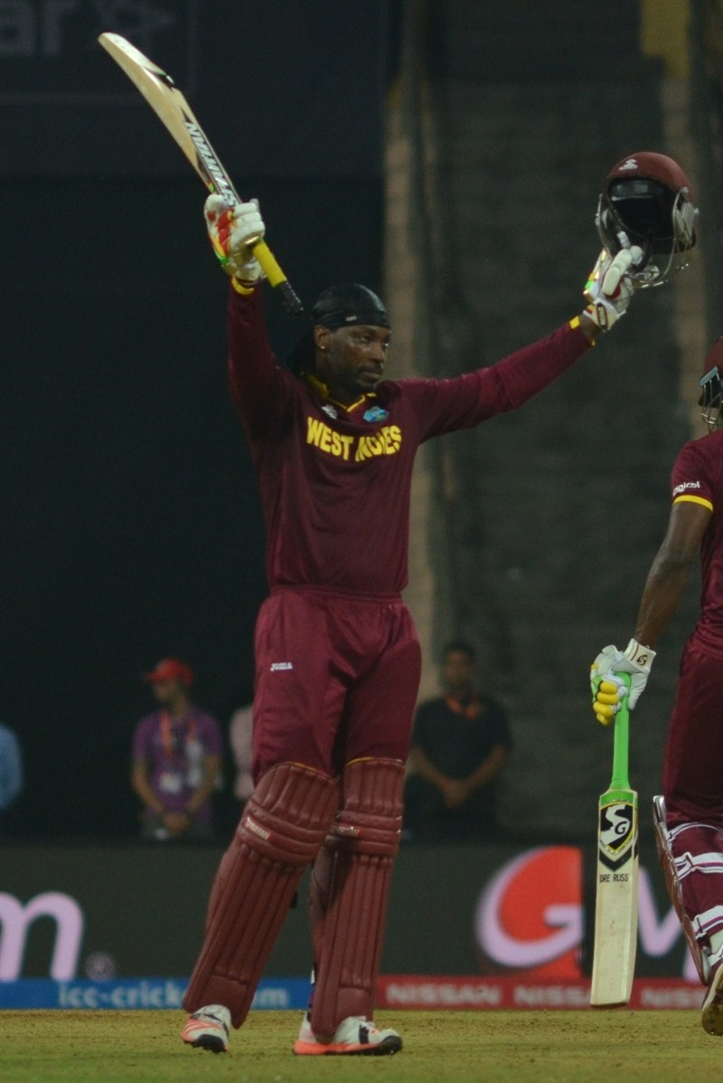 Chris Gayle,Chris Gayle hits hundred,Chris Gayle hammers England with century,Chris Gayle hammers England,Chris Gayle hits 2nd World T20 hundred,Chris Gayle struck a rapid century,Chris Gayle rapid century,Chris Gayle century