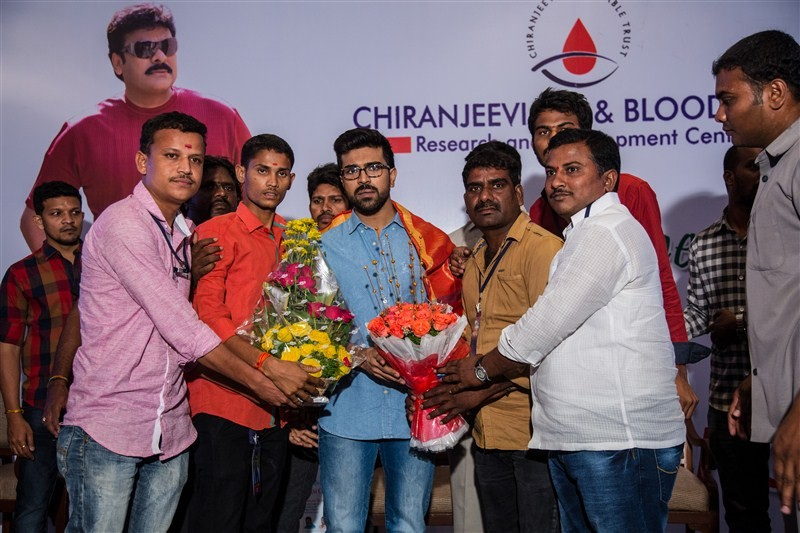 Chiranjeevi,Ram Charan,Chiranjeevi thanked the blood donors,Ram Charan thanked the blood donors,mega blood donation camps,blood donation camps,blood donation