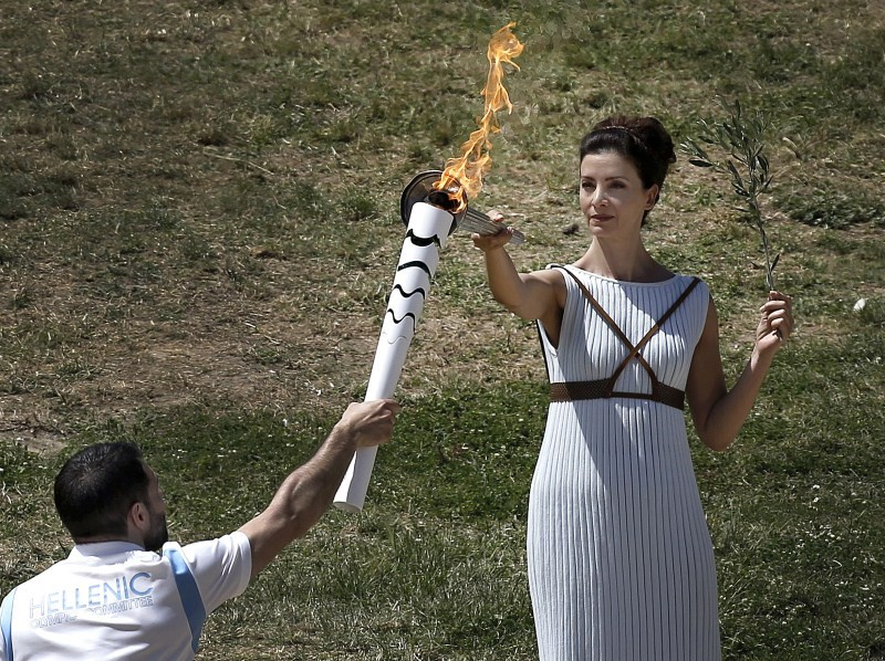 Lighting the Olympic flame,Olympic flame,Olympic Flame 2016,Rio 2016,Olympic flame lighting ceremony