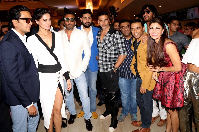 Housefull 3 Trailer,Housefull 3 Trailer Launch,Housefull 3,Akshay Kumar,Riteish Deshmukh,Jacqueline Fernandez,Abhishek Bachchan,Nargis Fakhri,Boman Irani,Lisa Haydon,Housefull 3 Trailer Launch pics,Housefull 3 Trailer Launch images,Housefull 3 Trailer Lau