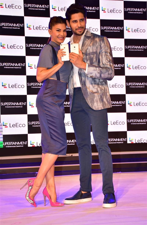 Sidharth Malhotra,Jacqueline Fernandez,LeEco's Supertainment Smartphone,LeEco's,LeEco,Sidharth Malhotra and Jacqueline Fernandez,Sidharth Malhotra & Jacqueline Fernandez,Supertainment Smartphone,Smartphone