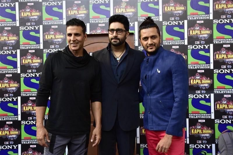 Akshay Kumar,Abhishek Bachchan,Riteish Deshmukh,Jackie Shroff,Chunky Pandey,Kapil Sharma,Housefull 3,Housefull 3 promotion,Housefull 3 promotion on Kapil Sharma's show