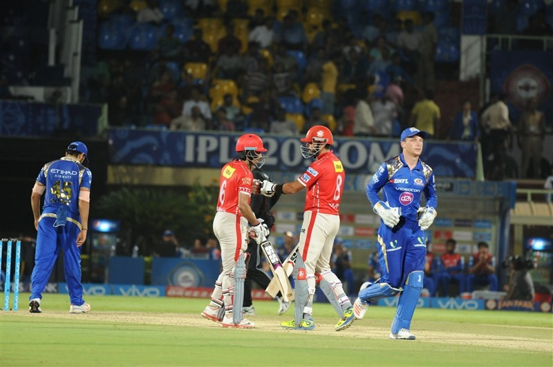 Punjab stun Mumbai by seven wickets,Punjab stun Mumbai,Kings XI Punjab,Mumbai Indians,Wriddhiman Saha,Murali Vijay,Indian Premier League,Indian Premier League 2016,Indian Premier League 9,IPL pics,IPL images,IPL photos,IPL stills,IPL pictures