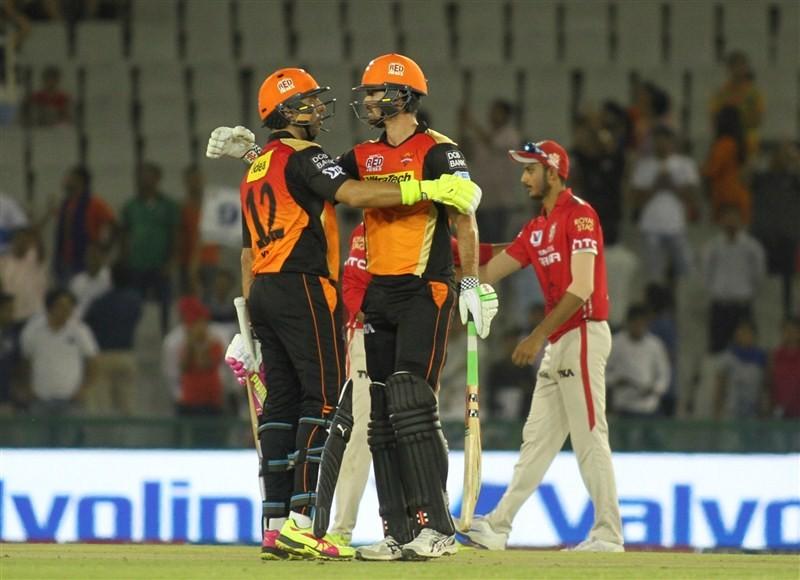 Sunrisers Hyderabad trash Kings XI Punjab by 7 wkts,Sunrisers Hyderabad trash Kings XI Punjab,Sunrisers Hyderabad beat Kings XI Punjab,Sunrisers Hyderabad,Kings XI Punjab,IPL 2016,IPL pics,IPL images,IPL photos,IPL stills,IPL pictures
