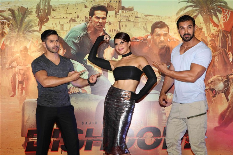 Dishoom Trailer Launch,Varun Dhawan,John Abraham,Jacqueline Fernandez,Dishoom Trailer Launch pics,Dishoom,Dishoom Trailer Launch images,Dishoom Trailer Launch photos,Dishoom Trailer Launch stills,Dishoom Trailer Launch pictures