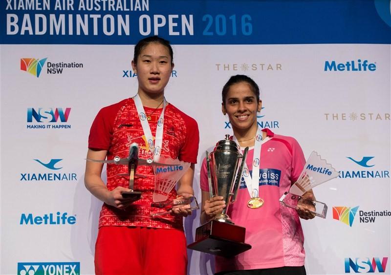 Saina Nehwal,Saina Nehwal clinches Australian Open title,Saina Nehwal wins Australian Open title,Australian Open title,Australian title,2016 Australian Open title,Saina Nehwal captured second Australian Badminton Open Superseries,Saina Nehwal pics,Saina N