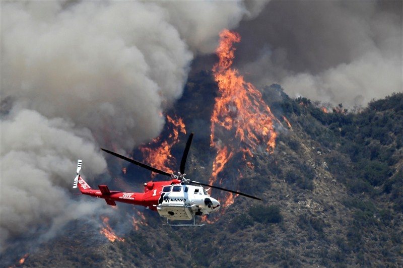 Wildfire ignites in California,Wildfire,Wildfires spread in California,Santa Barbara,heat wave,heat wave in California